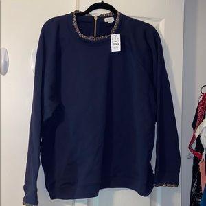 NWT J. Crew Factory Ruffled Sweatshirt